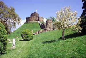 Launceston Castle in Spring